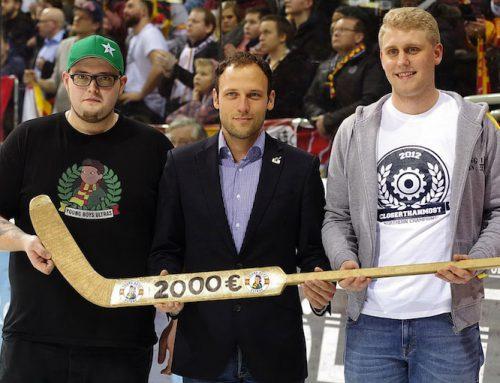 """""""Young Boys"""" sammeln 2.000 EUR beim Heimspiel der Düsseldorfer EG!"""