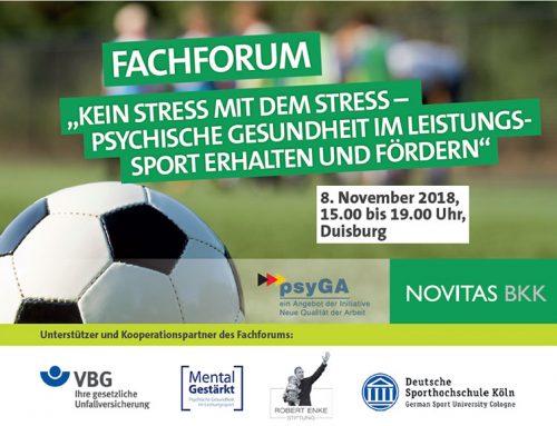 Kein Stress mit dem Stress: Fachforum zu psychischer Gesundheit im Leistungssport